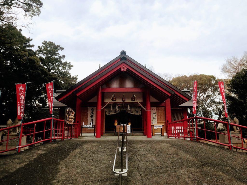 美濃輪稲荷神社|御社殿